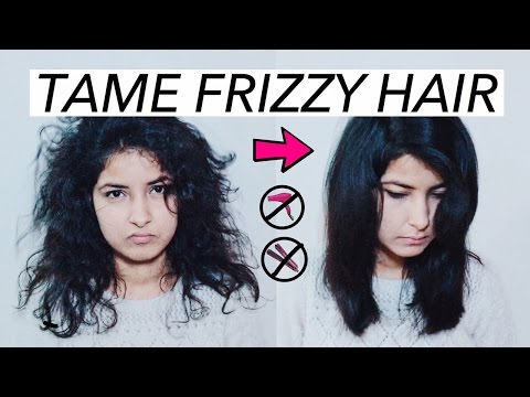 HOW TO TAME FRIZZY WAVY HAIR (NO HEAT)