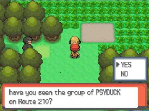 Let's Play Pokemon Diamond: Part 29-The Psyduck blockade