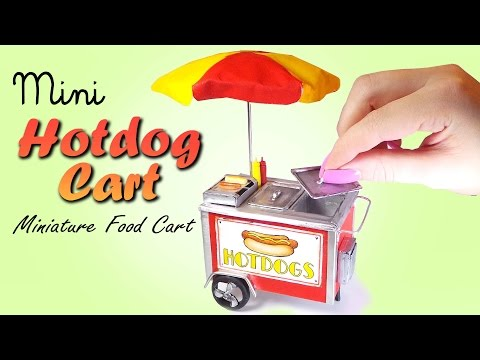 Cute Mini Hotdog Cart Tutorial // DIY Miniature Food
