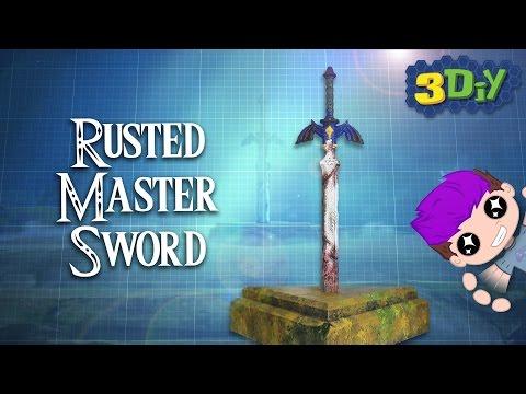 Rusted Master Sword 3D Printed Prop ⚔️  Legend of Zelda: Breath of the Wild DIY 🎮 3DIY