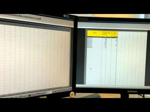 How to use Excel on two monitors