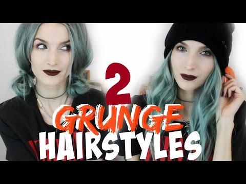 Grunge Hairstyles | Grunge Curls & Pigtail Buns