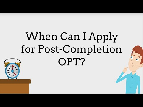 OPT: When to Apply 5/9