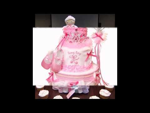 Creative Diaper cake ideas for girls