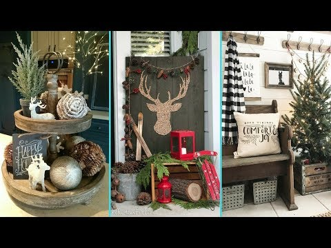 ❤ DIY Shabby chic style Rustic Christmas decor Ideas ❤  Home decor & Interior design Flamingo Mango 