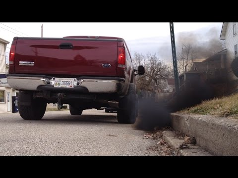 6.0 PowerStroke  Super Panty Dropper Tune with Open Veins at Idle and Straight Pipe