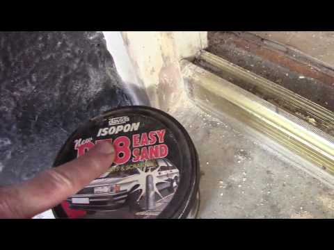 How to repair a rotten wood on a door frame, window frame the cheap effective way that looks good
