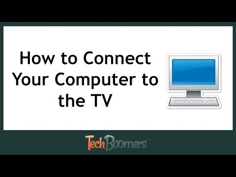 How to Connect Your Computer to the TV
