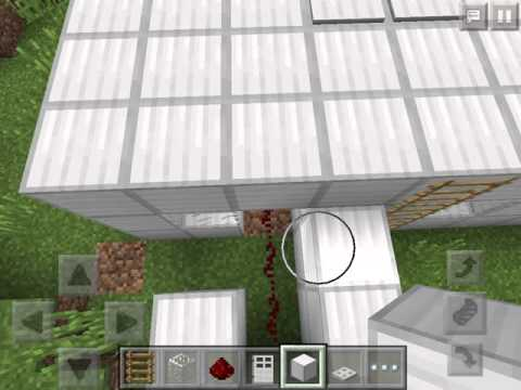 Tutorial for iron house pressure plates to open doors in Minecraft PE
