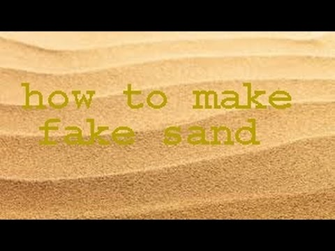 how to make fake sand with just oil and flour