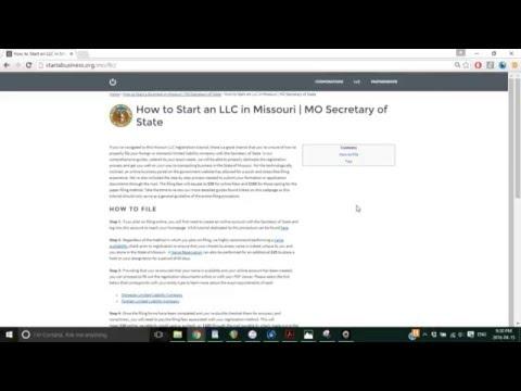 How to Start an LLC in Missouri   MO Secretary of State