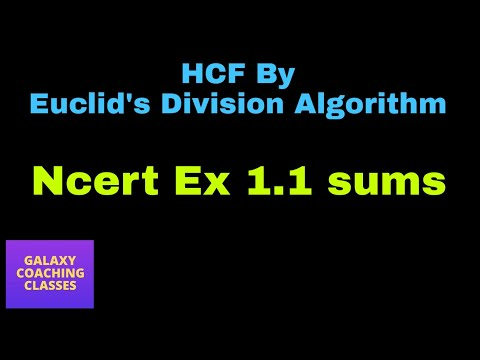 HCF by division method (Euclid's division algorithm) ll real numbers class 10 cbse