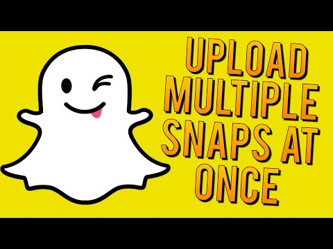 How to Upload Multiple Snaps at ONE Time - Snapchat Quick Tips