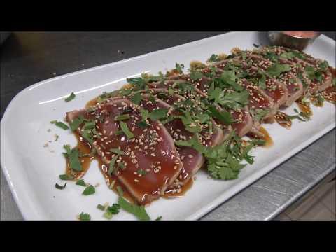 HOW TO MAKE TUNA TATAKI  (JAPANESE FOOD)