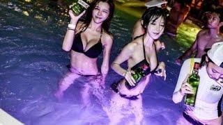 ♫ Pool Party Korea 2016 ♫ Girl Xinh Thác Loạn tại Bể Bơi - Liên khúc Viet Remix kích thích nhất