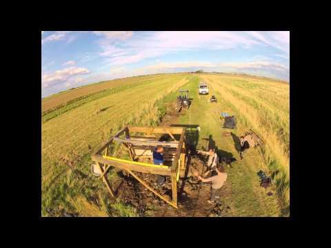 Dirt jump time lapse construction