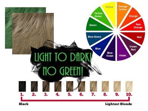 How to Darken Hair while Avoiding Green Tones