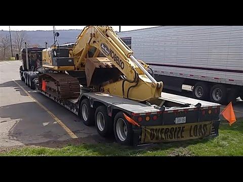 Heavy Haul TV: Kobelco SK 210 Excavator Trip