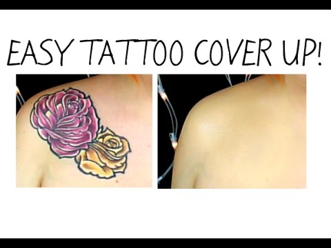 Easy tattoo cover up makeup using Pros-Aide!