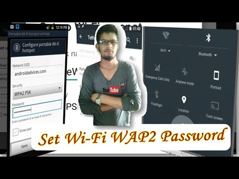 How to Set Password for Wi-Fi Hotspot in Android Phone. WPA2 Password.