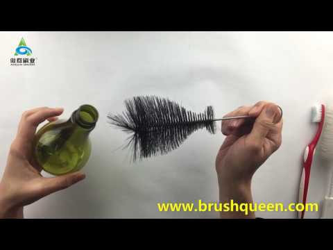 Use a customized water bottle brush /wine decanter bottle brush to clean a special bottle.