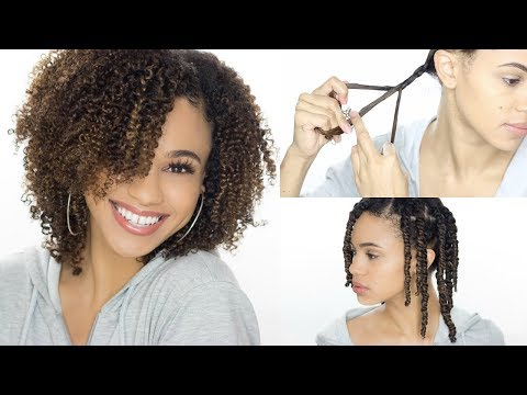 How To 3 Strand Twist Out + Nighttime Routine (Detailed)