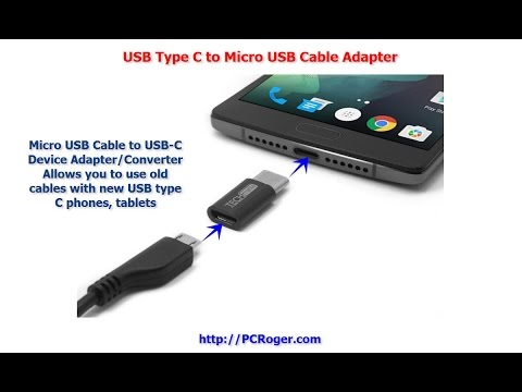 USB Type C To Micro USB Cable Adapter
