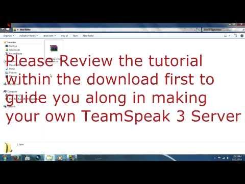 Your own TeamSpeak 3 Server