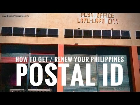 How to Get or Renew Your Philippines Postal ID? G Vlogs #21