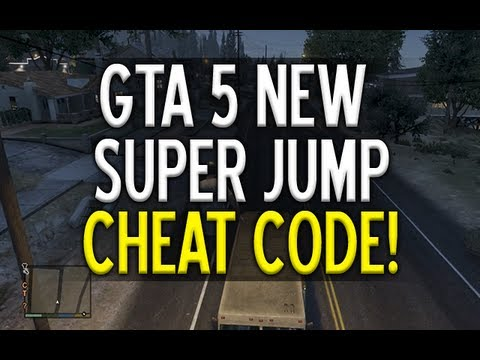 (GTA5) *NEW* SUPER JUMP CHEAT CODE TUTORIAL NEW (GTAV)