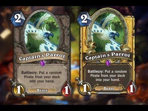 Hearthstone - Achievement, unlock Captain's Parrot. Pirate Deck.