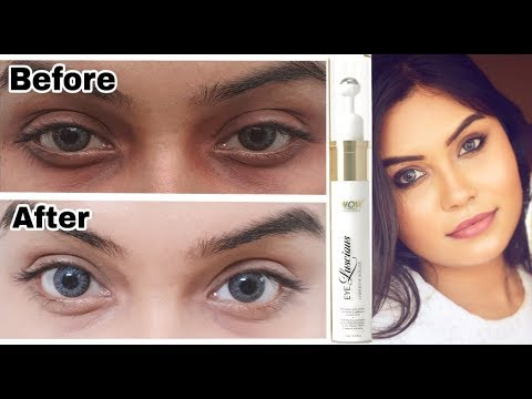 How to get rid of Dark Circles | WOW eye luscious under eye roller | Review | Demo