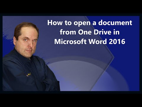 How to open a document from One Drive in Microsoft Word 2016