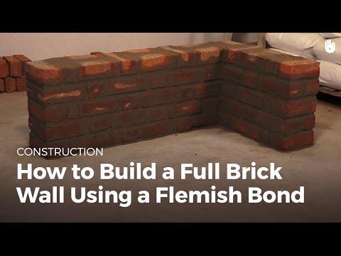 How to Build a Full Brick Wall Using a Flemish Bond | Masonry