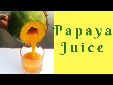 HOW TO MAKE PAPAYA JUICE