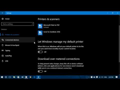 Windows 10 Settings Devices Printers and Scanners What it is and how it works