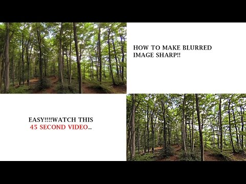 how to make a blurry picture clear /how to sharpen image in photoshop