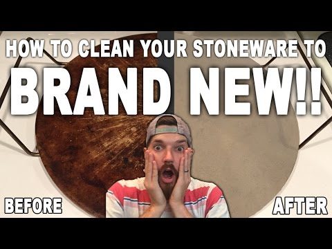 HOW TO clean your Pampered Chef Stoneware to Brand NEW!!! Super Easy with NO Chemicals!!