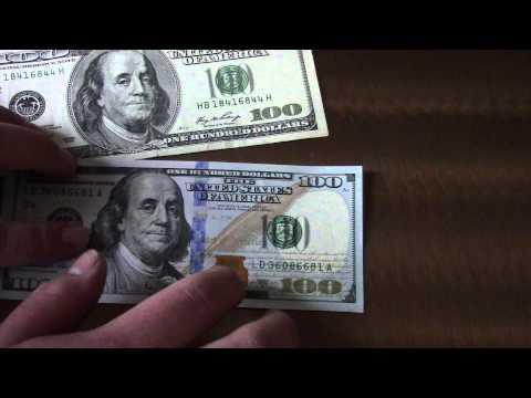 NEW $100 BILL VS. OLD $100 BILL