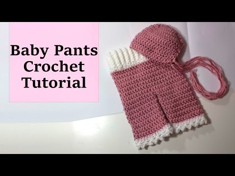 👶🏼👶🏼 Newborn Crochet Pants tutorial 👶🏼👶🏼 - photography prop
