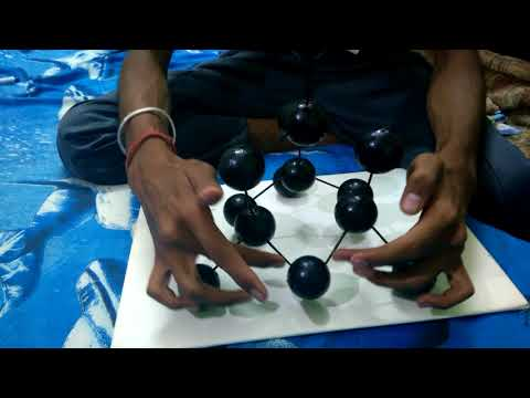 How to make diamond structure with 14 balls