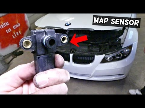 HOW TO REPLACE MAP SENSOR ON BMW E90 E91 E92 E93