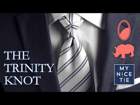 How to Tie a Tie: THE TRINITY KNOT (slow+mirrored=beginner) | How to Tie a Trinity Knot (easy)