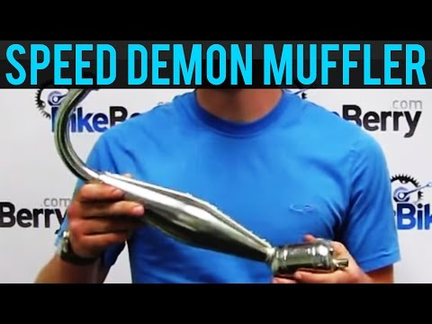 Product Review: Speed Demon Performance Muffler for 2-Stroke Bike Engine Kit by BikeBerrycom
