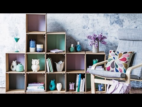 DIY PROJECT: Cardboard box shelves - homes+