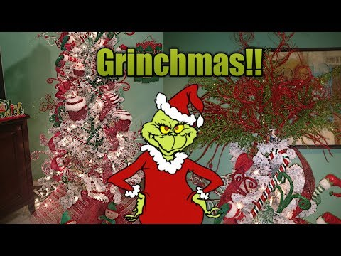 THE GRINCH THEME CHRISTMAS TREE!!!   MetalBarbie