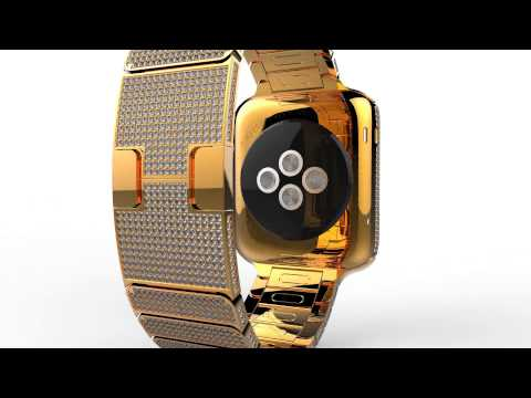 Lux Watch (Apple Watch) by Brikk in 24k Yellow Gold and Diamonds