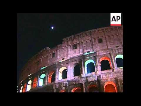 Coliseum lit up to mark abolition of death penalty in New Jersey