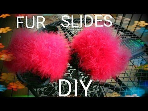 DIY:  FLUFFY FUR SLIDES! 💕 HD