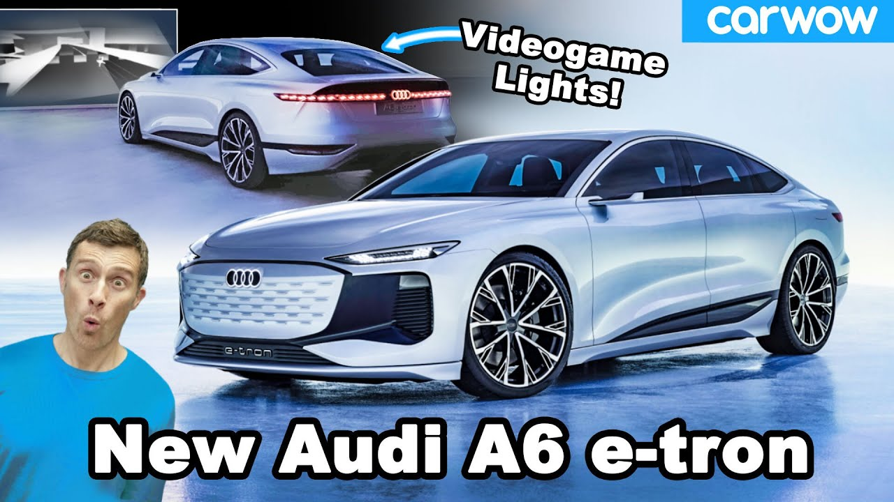 New Audi A6 e-tron - you can play video games using its headlights!!